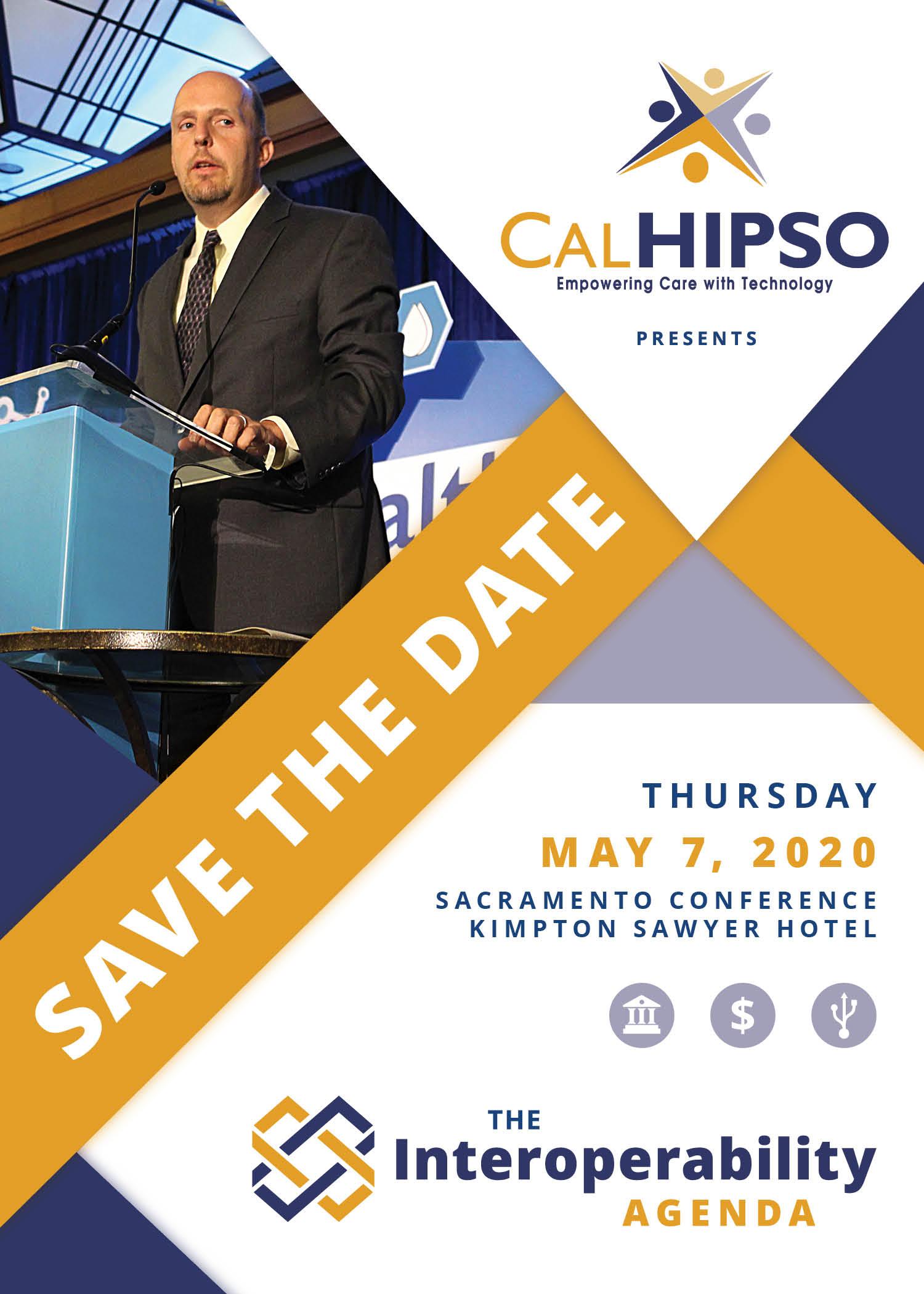 Save the date - Thursday, May 7, 2020. Sacramento Conference. Kimpton Sawyer Hotel.